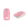 Souris sans fil -Design flamant rose
