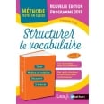 Structurer le vocabulaire Cycle 3 - Programme 2016