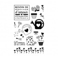 16 tampons clear stamp - Jardin
