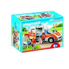 playmobil ambulance avec gyrophare et sir ne. Black Bedroom Furniture Sets. Home Design Ideas