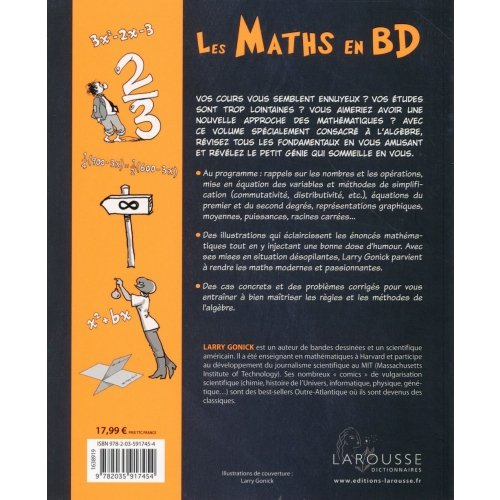 Les Maths En Bandes Dessinees Larry Gonick 9782035917454 Sciences Appliquees Sciences Humaines Art Culture Societe Livre