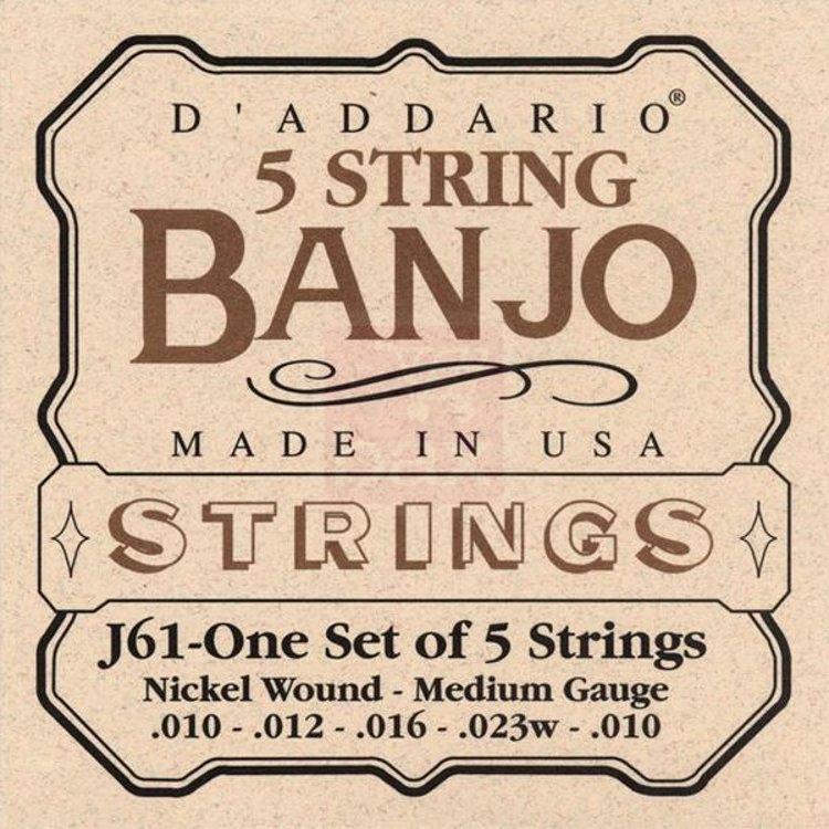 D'Addario Phosphor - Cordes pour banjo - acier nickelé - medium