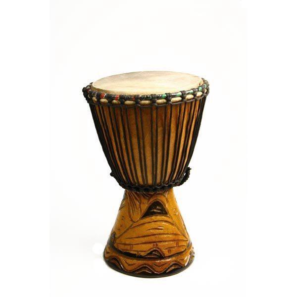 Djembé traditionnel du Sénégal - Petit modèle