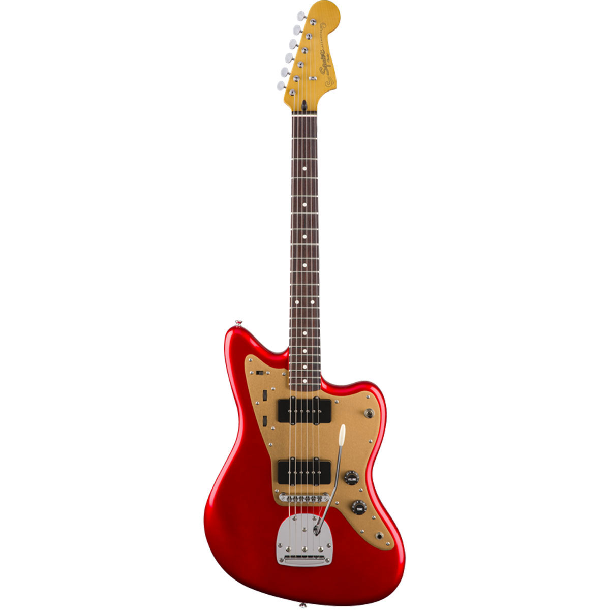 Squier - Deluxe Jazzmaster with tremolo Candy Apple Red