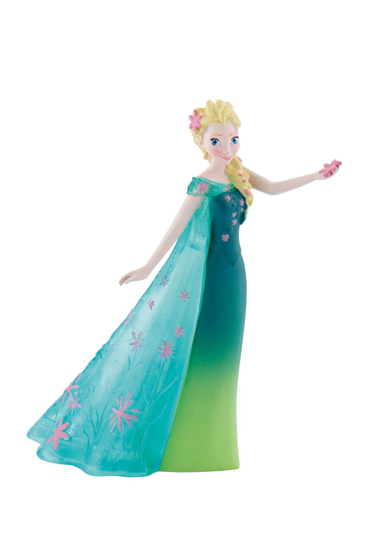 Figurine La Reine Des Neiges Disney - Elsa robe verte - 11 cm