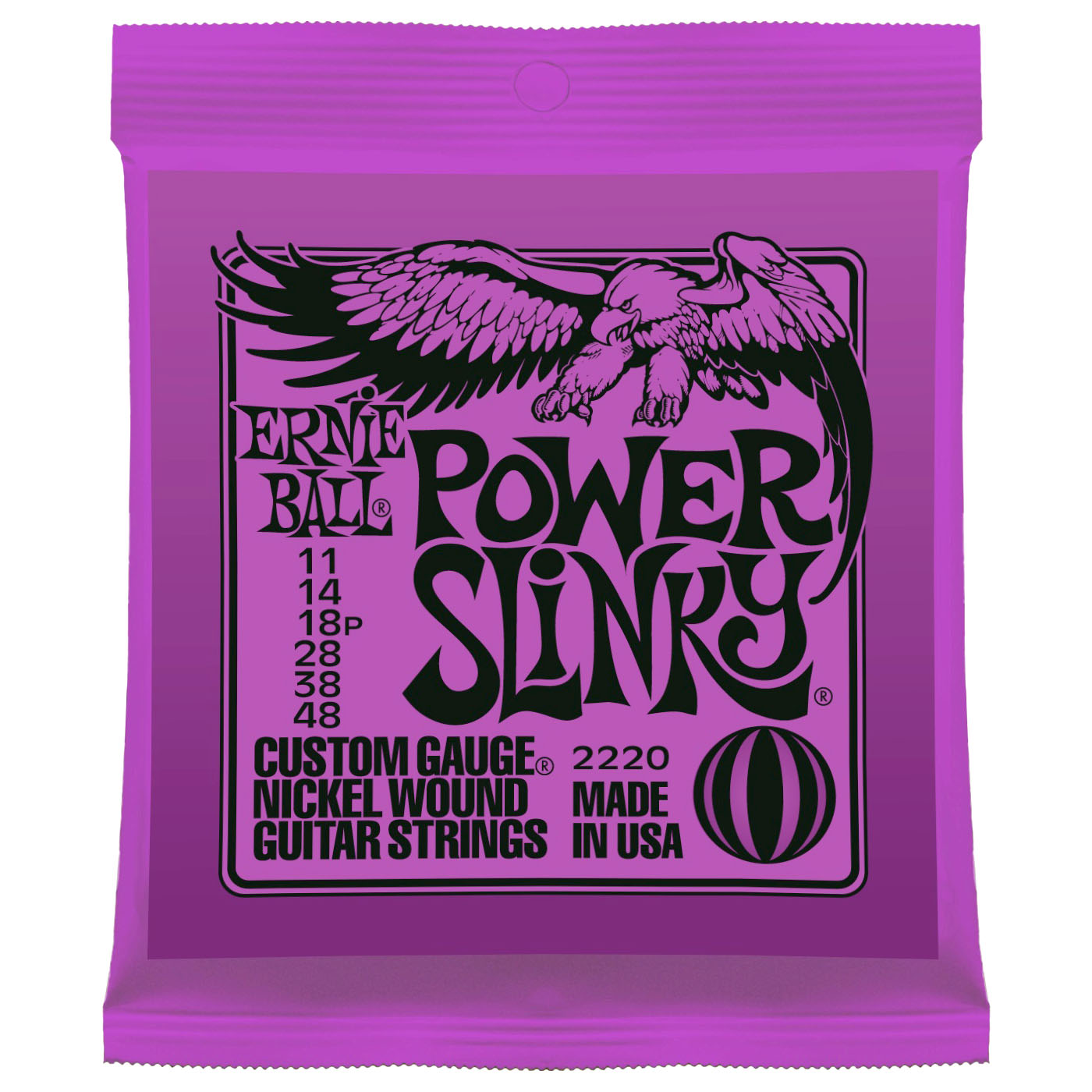 Ernie Ball - Jeu de cordes Ernie Ball 2220 Nickel - 11-48 - Power Slinky