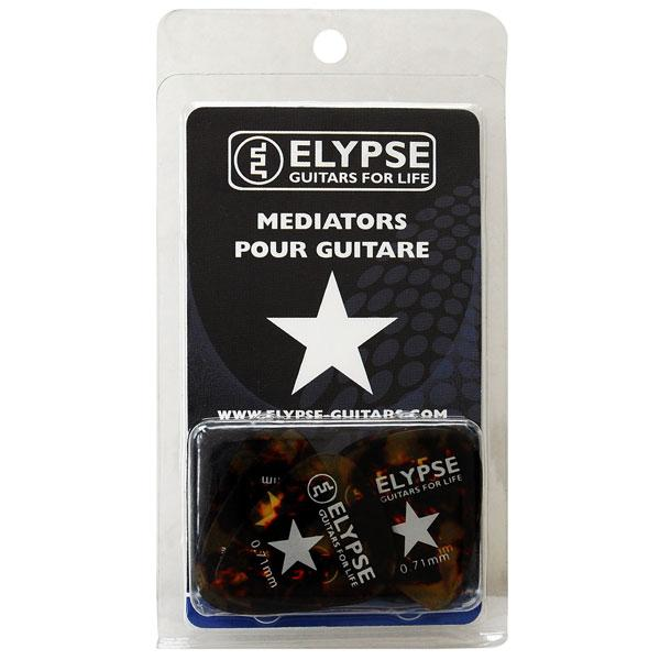 Pack de 12 médiators Celluloid Ecaille 0.71mm