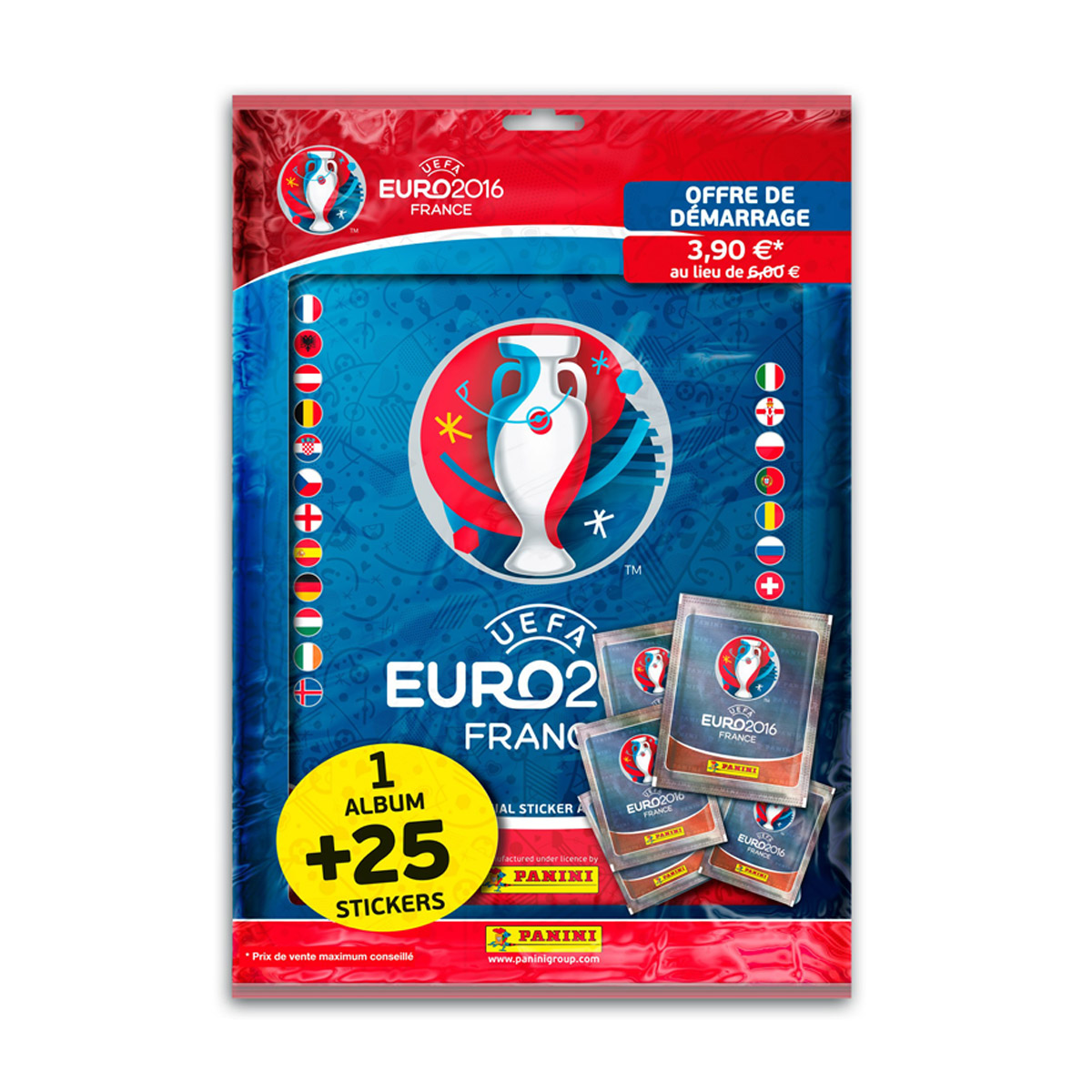 Album + 25 stickers - UEFA Euro 2016