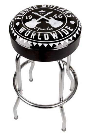 FENDER WORLDWIDE BARSTOOL, BLACK, 24 IN