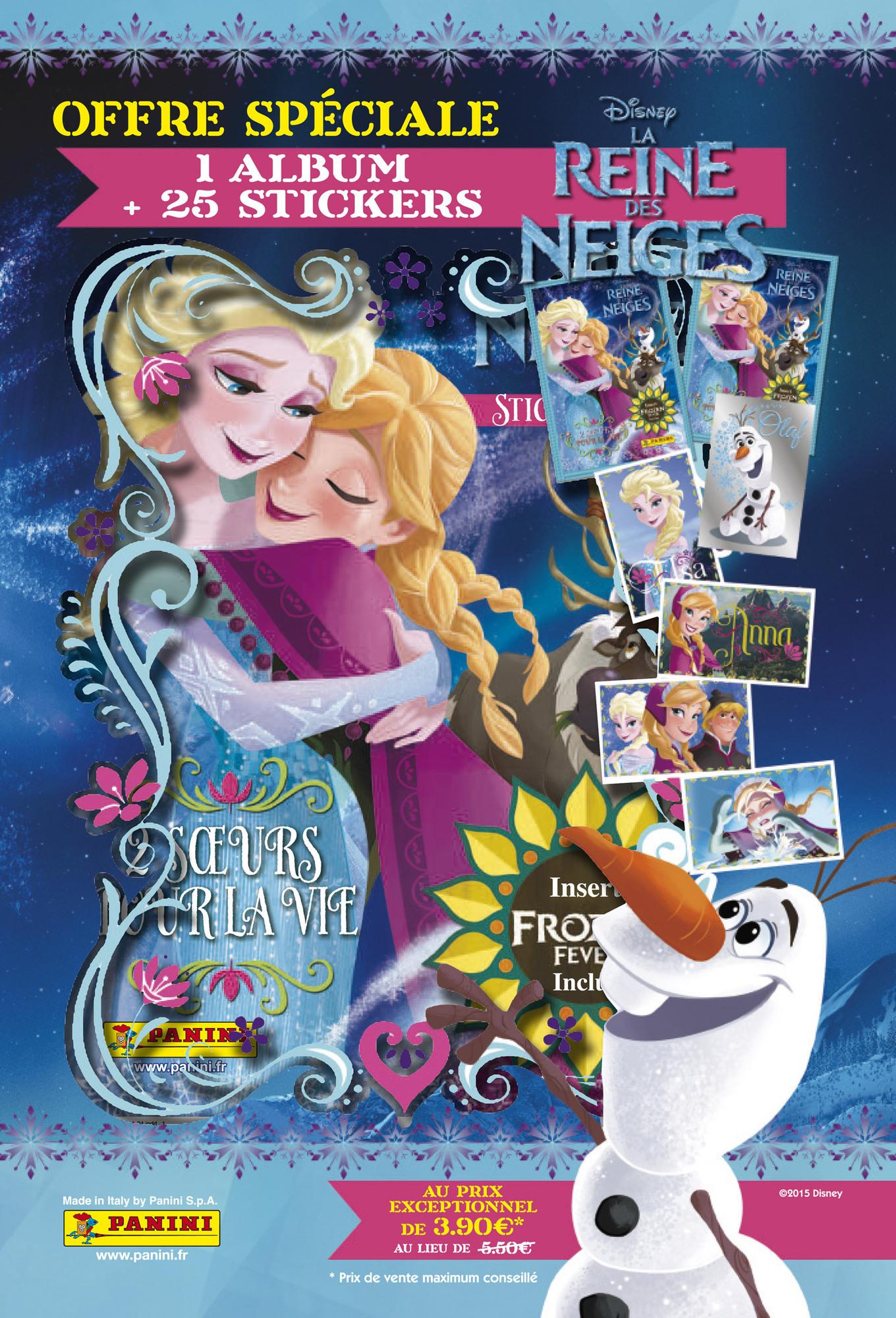 Panini La Reine des Neiges - une sur pour la vie - 1 album + 5 pochettes