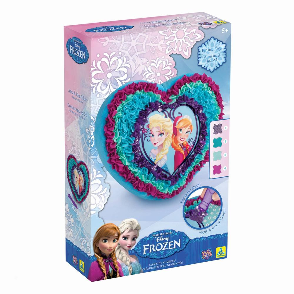 Coussin Anna et Elsa à créer - La reine des neiges - Disney - PlushCraft®
