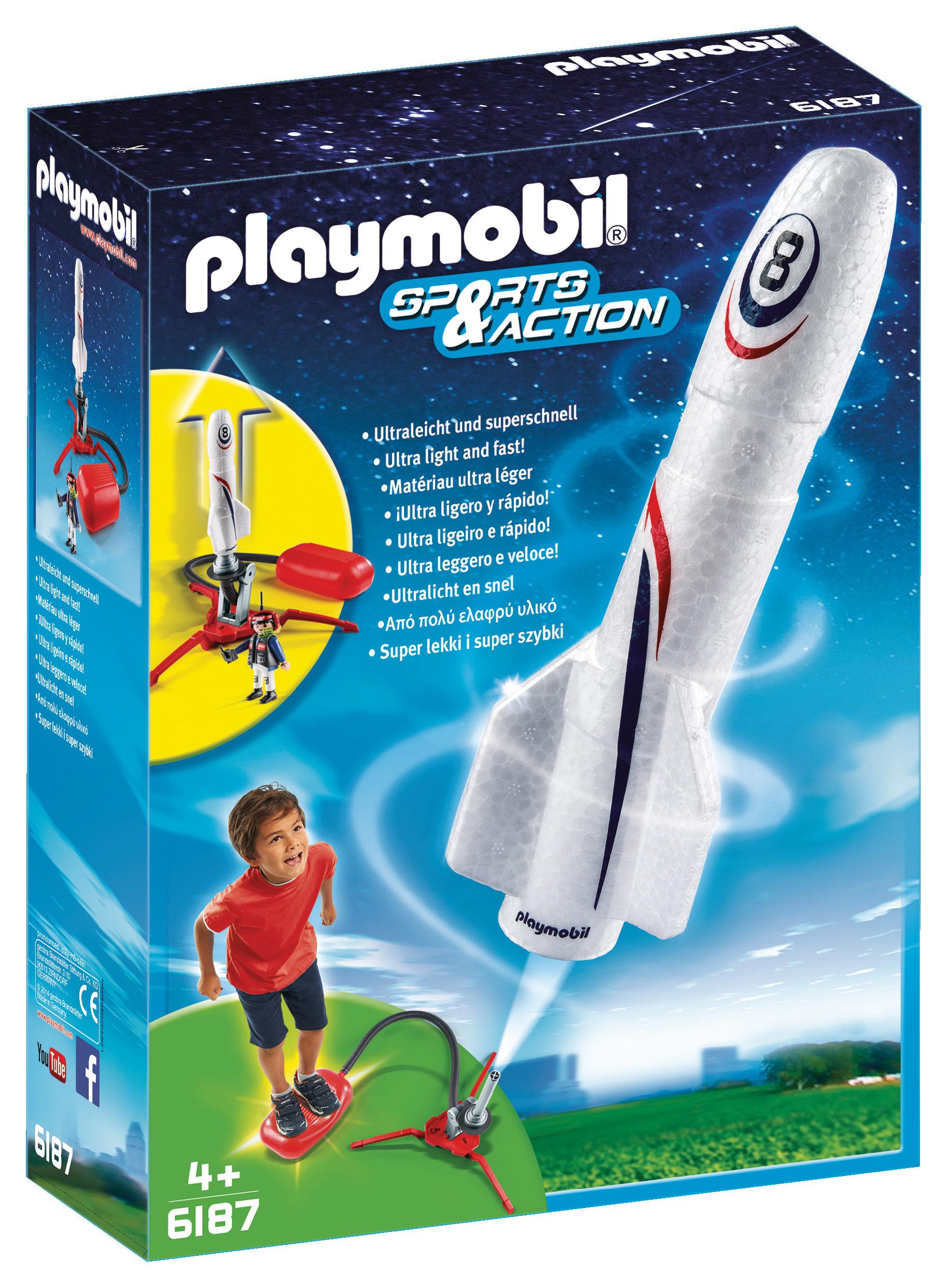 Fusée et plateforme de lancement - Playmobil