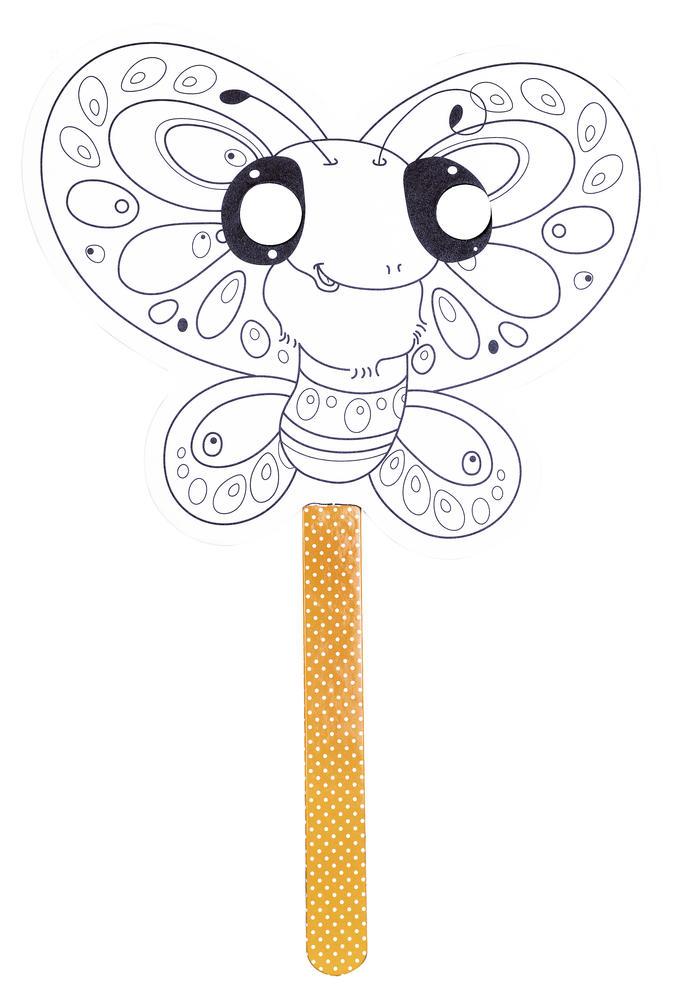 Masque à colorier - Papillon - Avenue Mandarine