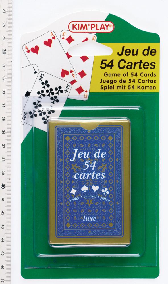 Jeu 54 cartes - luxe