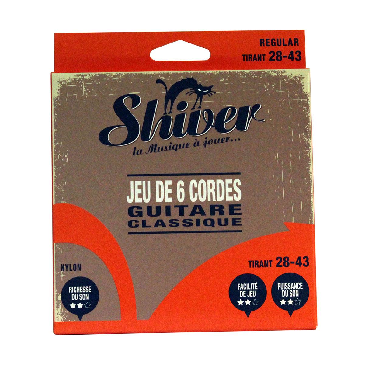 Shiver - Jeu 6 cordes guitare classique 28-43 basic