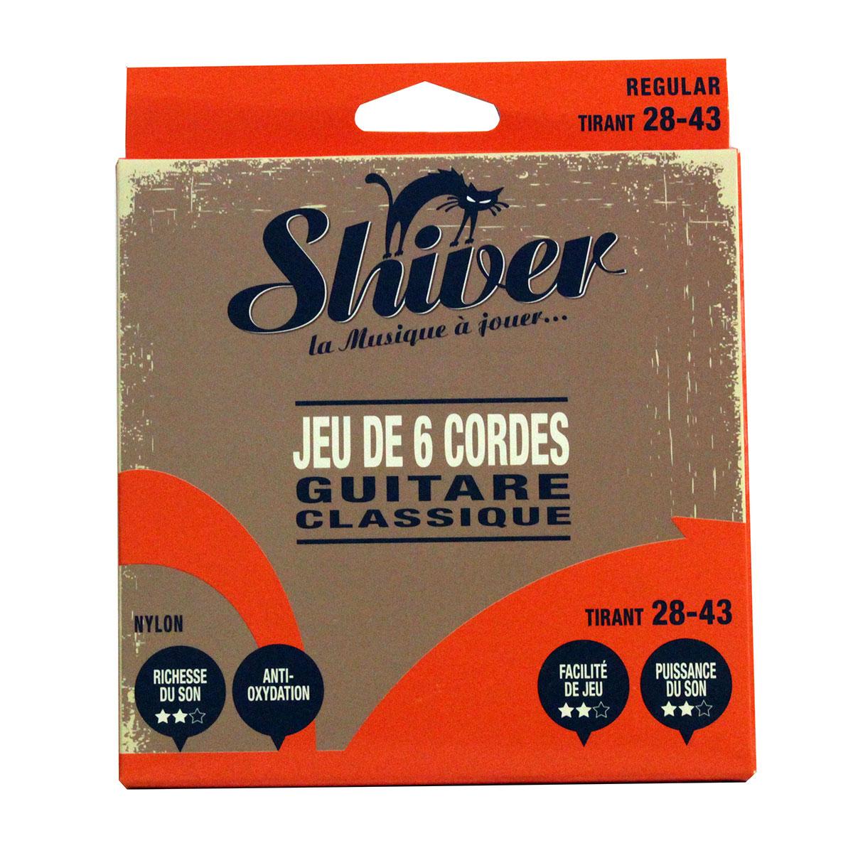 Shiver - Jeu 6 cordes guitare classique 28-43 deluxe