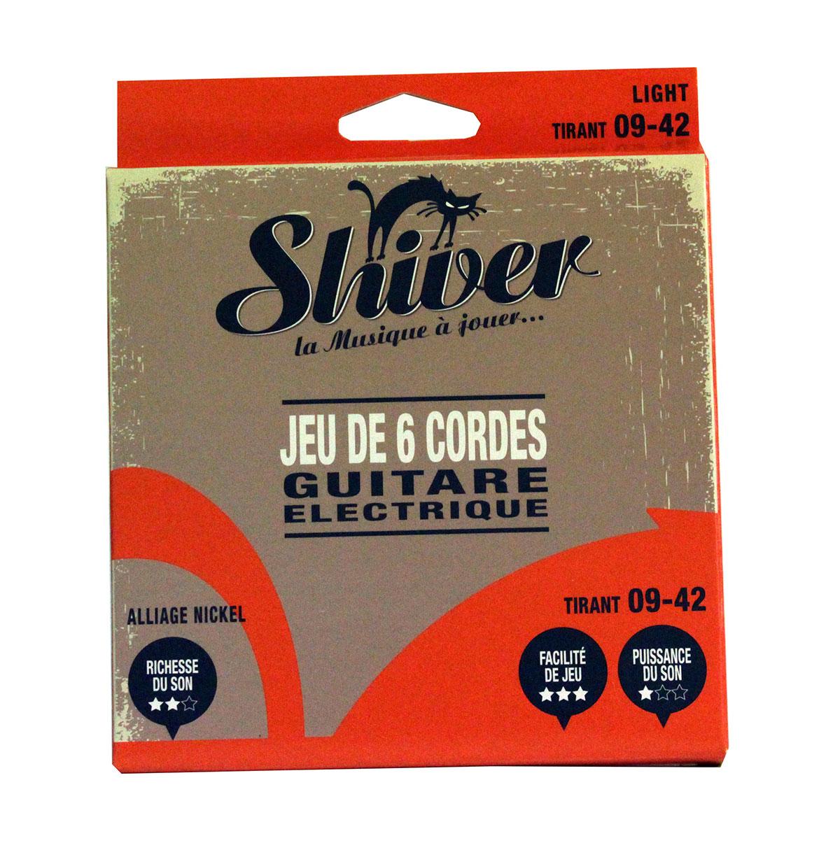Shiver - Jeu 6 cordes guitare électrique 09-42 basic