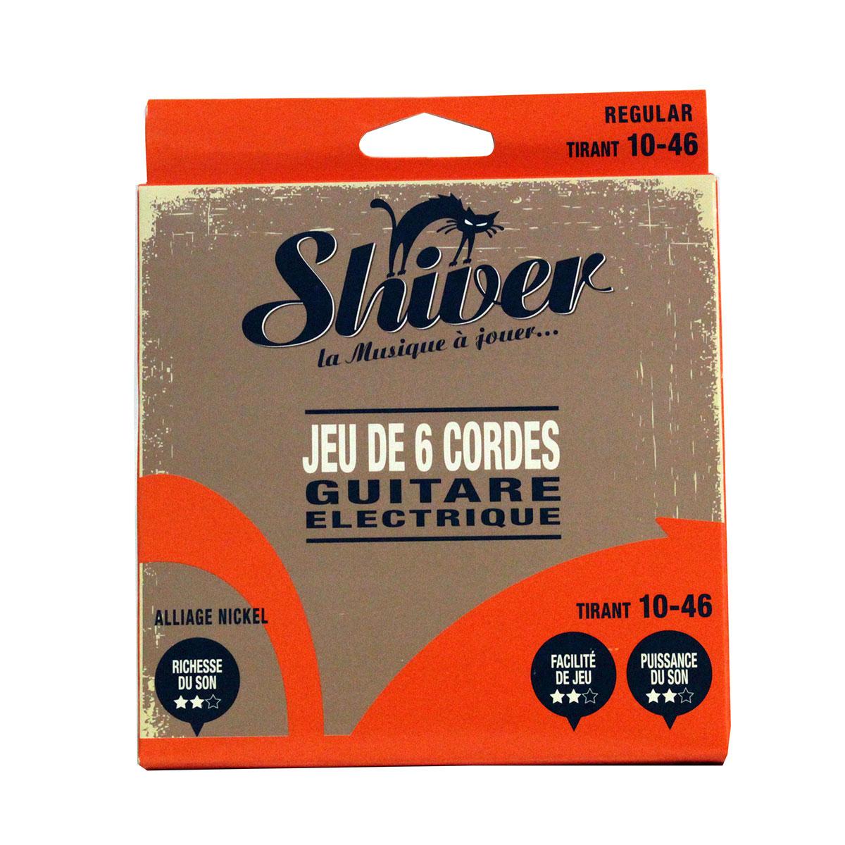Shiver - Jeu 6 cordes guitare électrique 10-46 basic