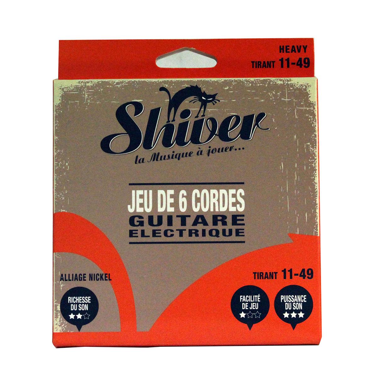 Shiver - Jeu 6 cordes guitare électrique 11-49 basic