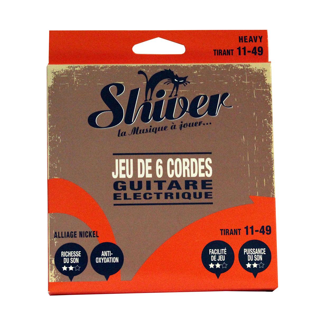 Shiver - Jeu 6 cordes guitare électrique 11-49 standard