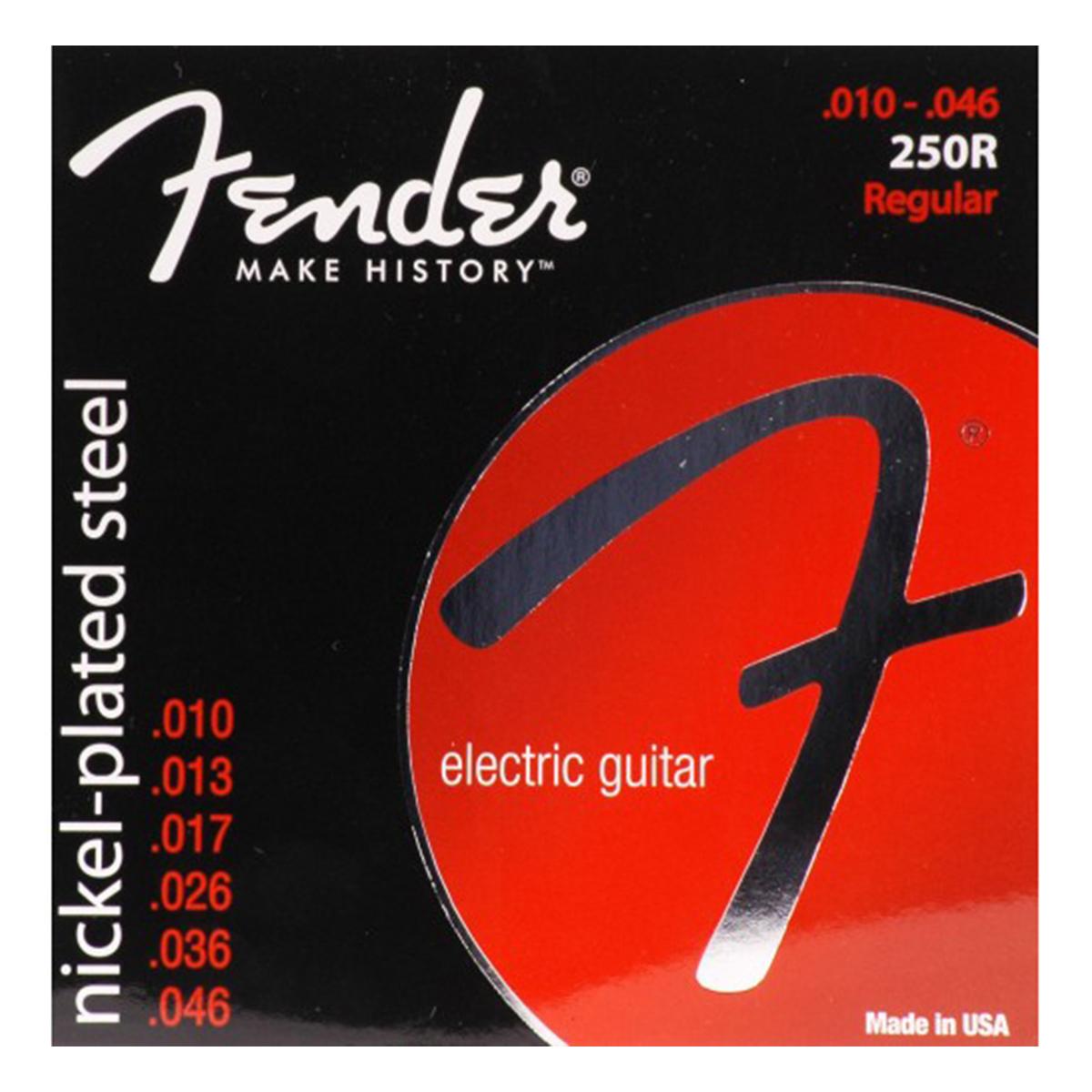 Fender - Jeu cordes guitare électrique - 250R - 10/46