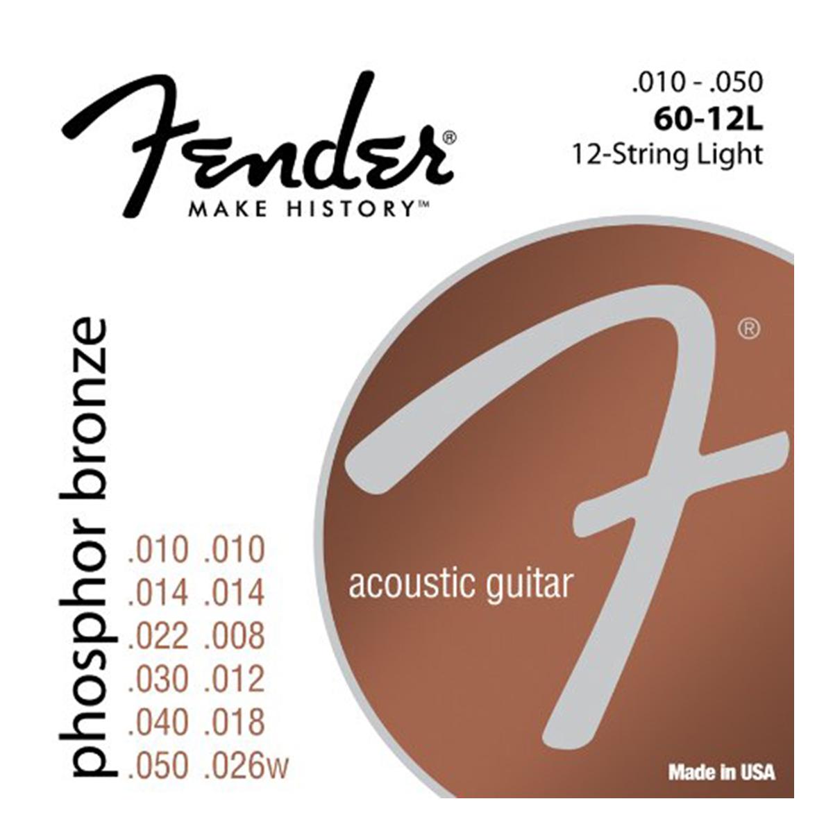 Fender - Jeu cordes guitare folk - 60XL - 10/50