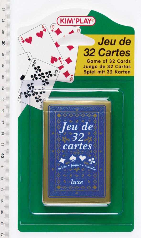 Jeu 32 cartes - luxe