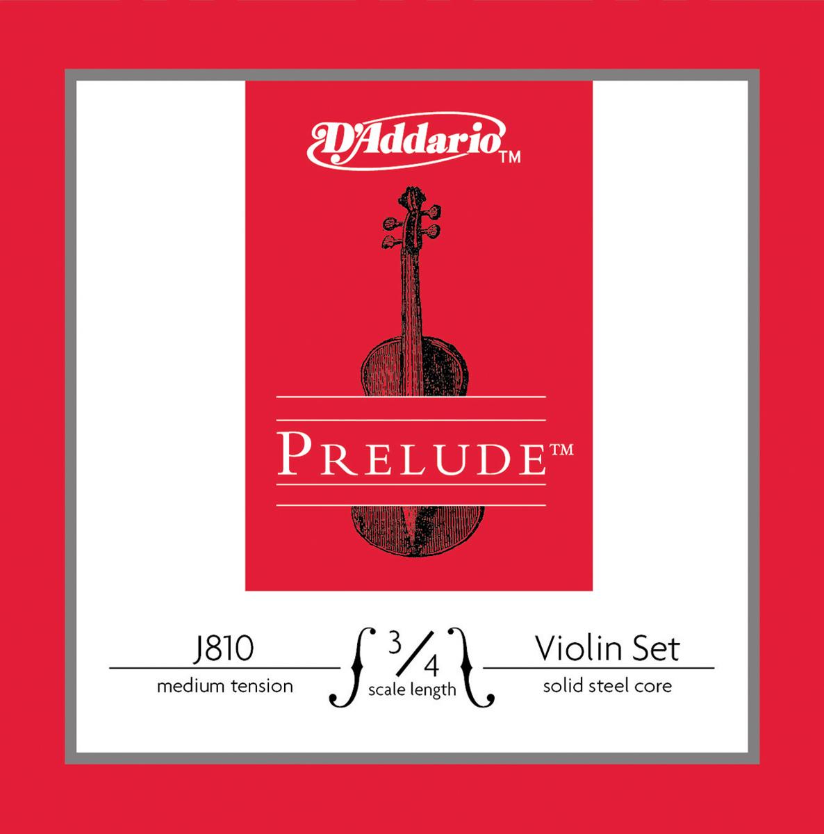 D\'Addario - Corde Prélude pour violon - J810-3-4M