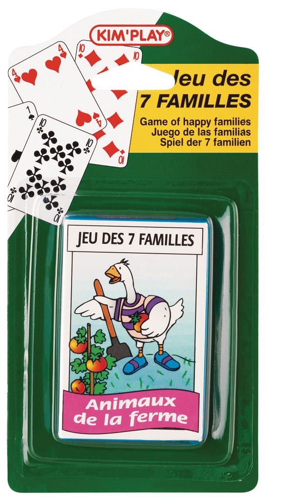 Jeux de 7 familles assortis