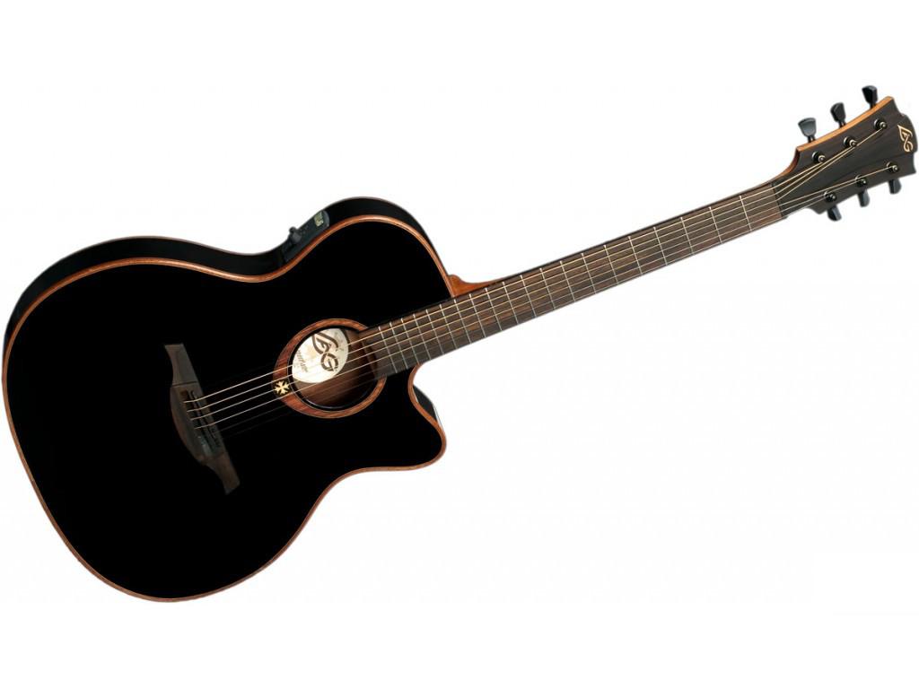 Lag - Guitare électro-acoustique GLA T100ASCE-BLK