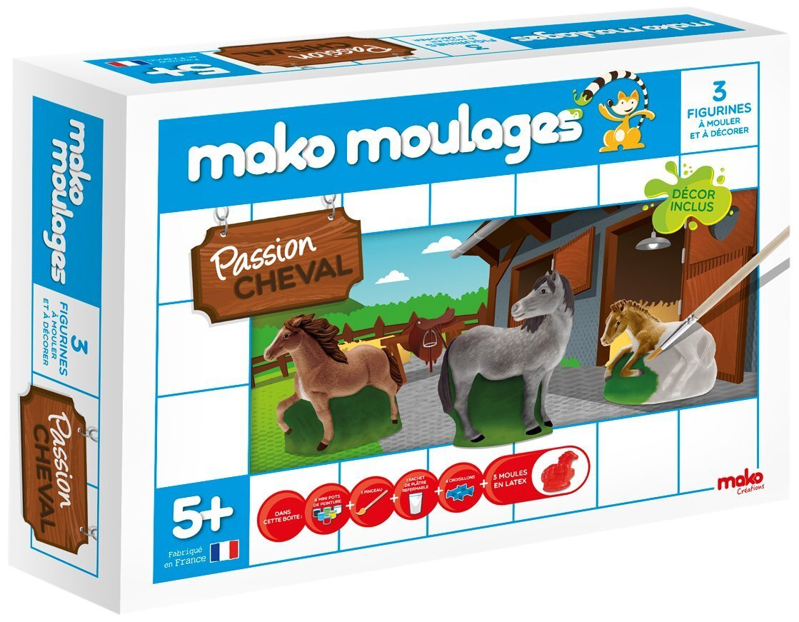 Mako Moulages Chevaux 3 Moules