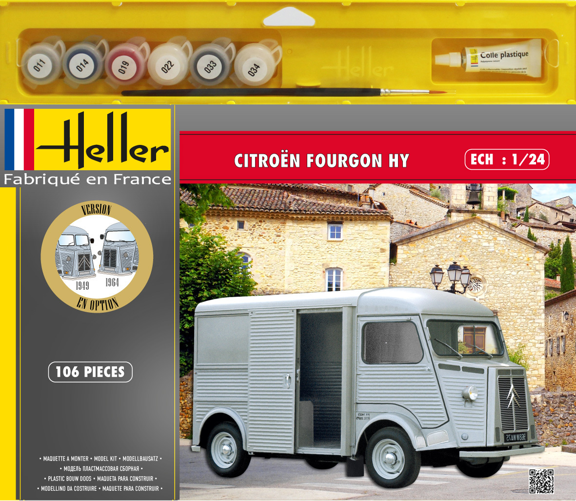 Maquette Citroën Fourgon HY - Heller