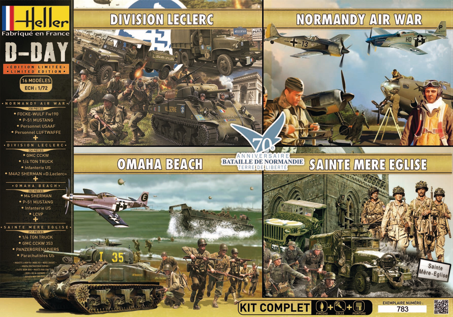 Coffret maquette édition limitée D-day - Heller