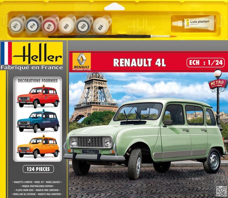 Maquette Renault 4L GTL - Heller