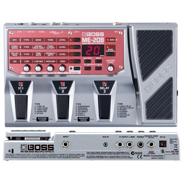Multi Effets Basse Electrique ME-20B - Boss
