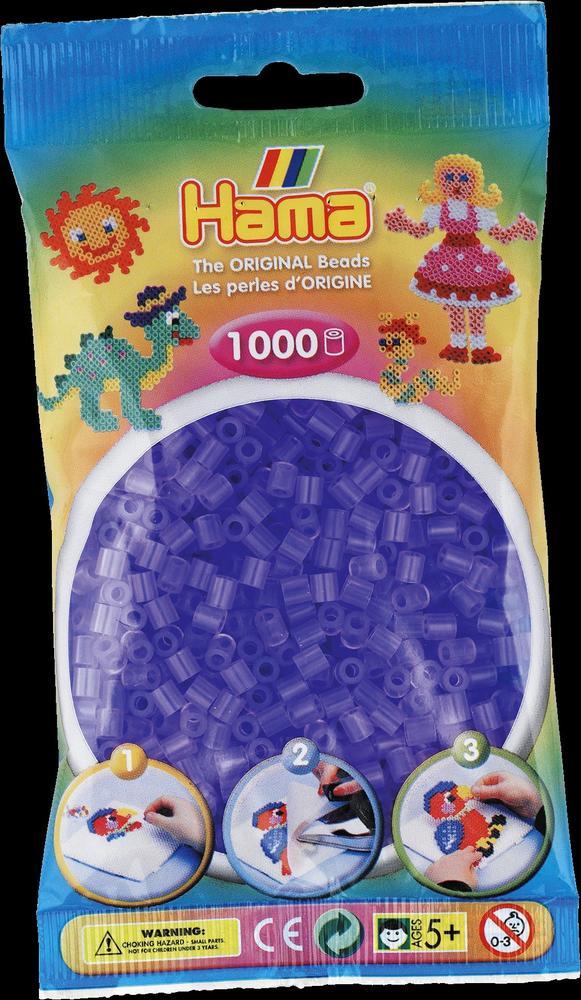 Sachet 1000 perles Hama - MIDI - lilas transparent - 20774