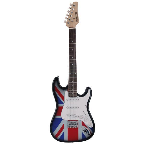 Elypse - Vénus Union Jack Mini guitare électrique 3/4