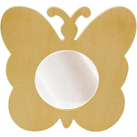Miroir papillon bois