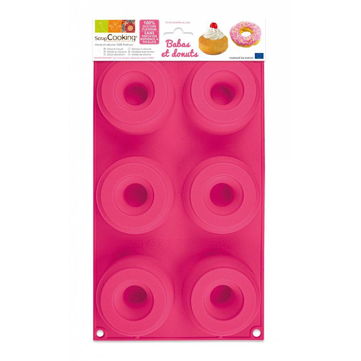 Image du produit Moule en silicone - Babas et Donuts - Scrapcooking