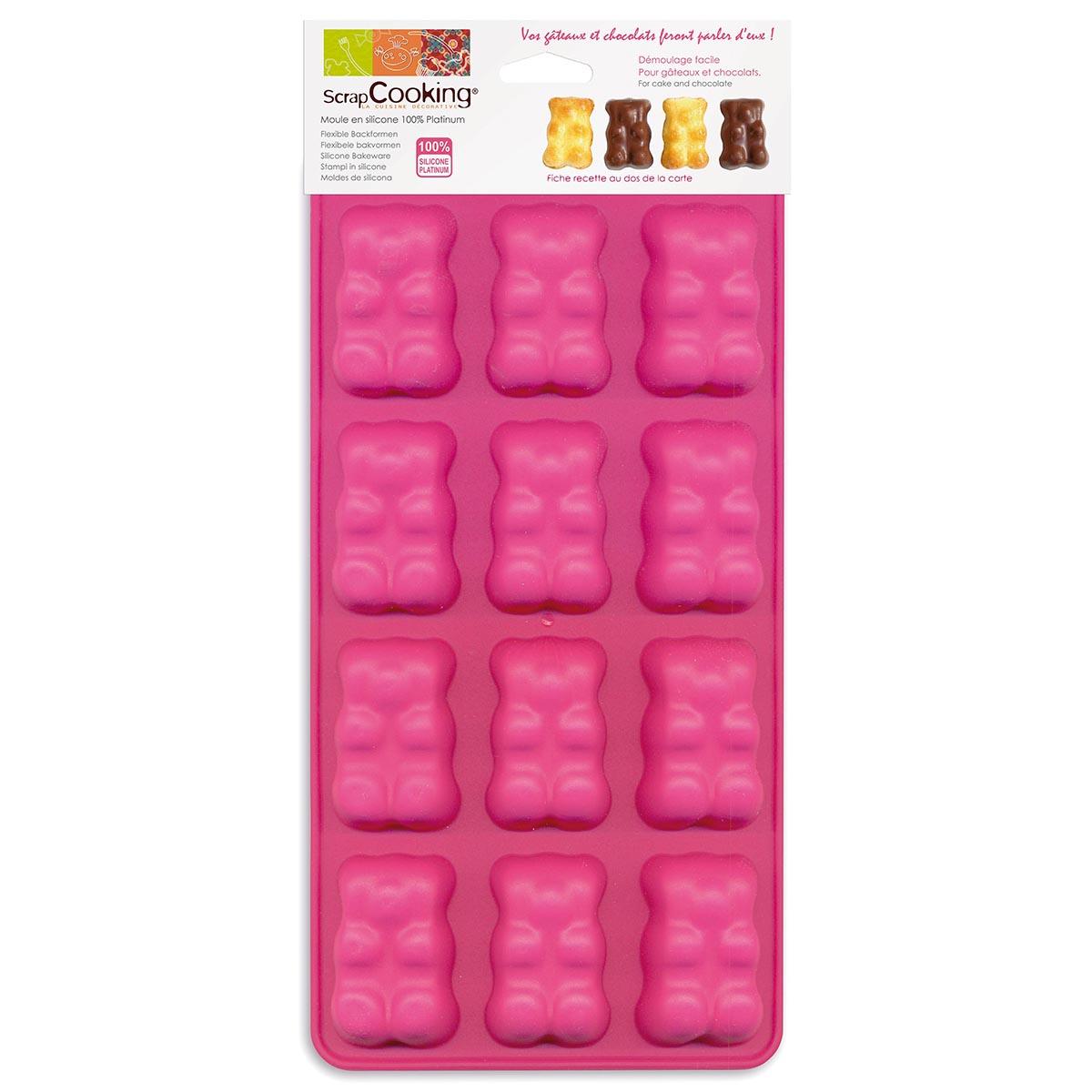 Image du produit 12 moules en silicone - ourson - Scrapcooking