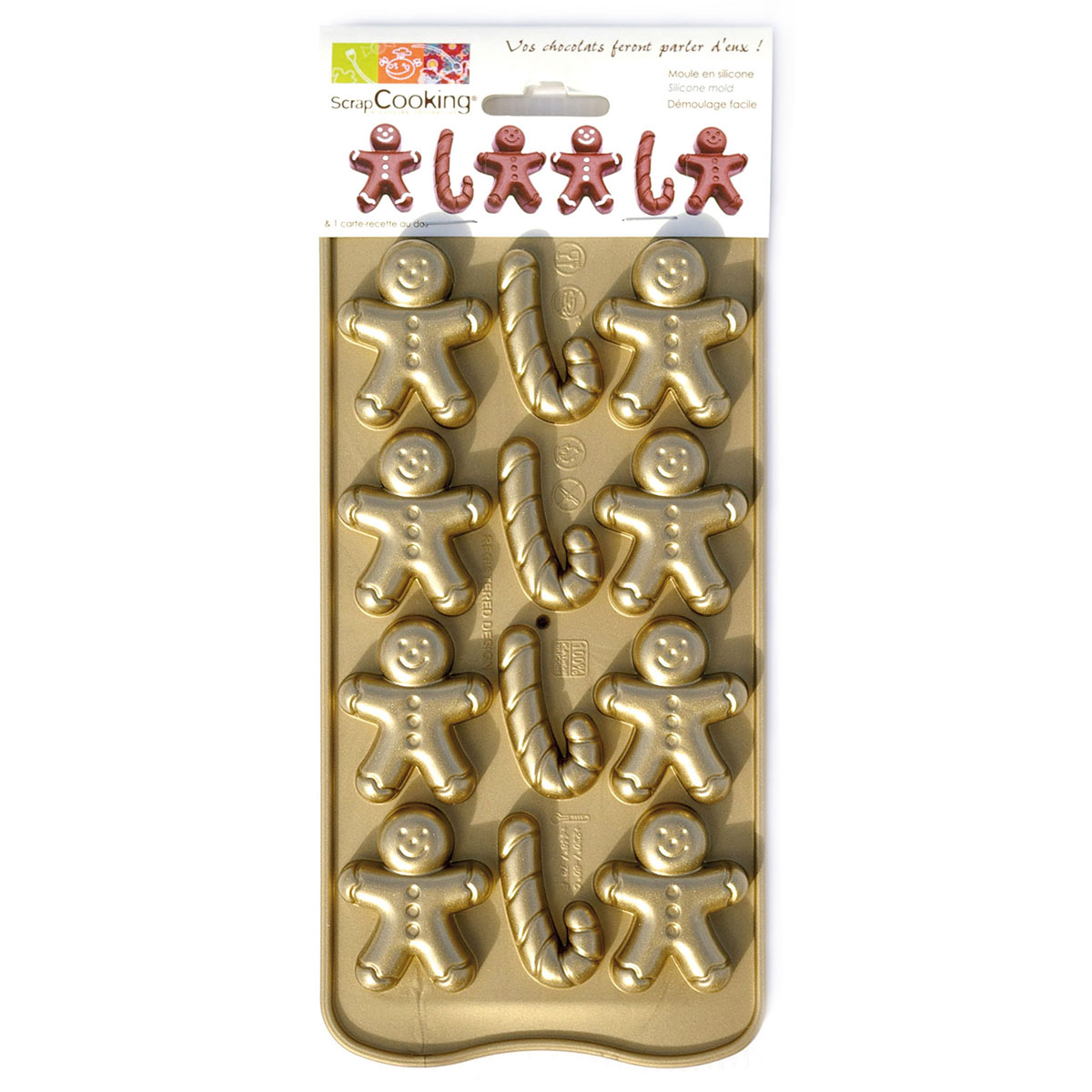 Image du produit Moule souple chocolat - petit pain d'