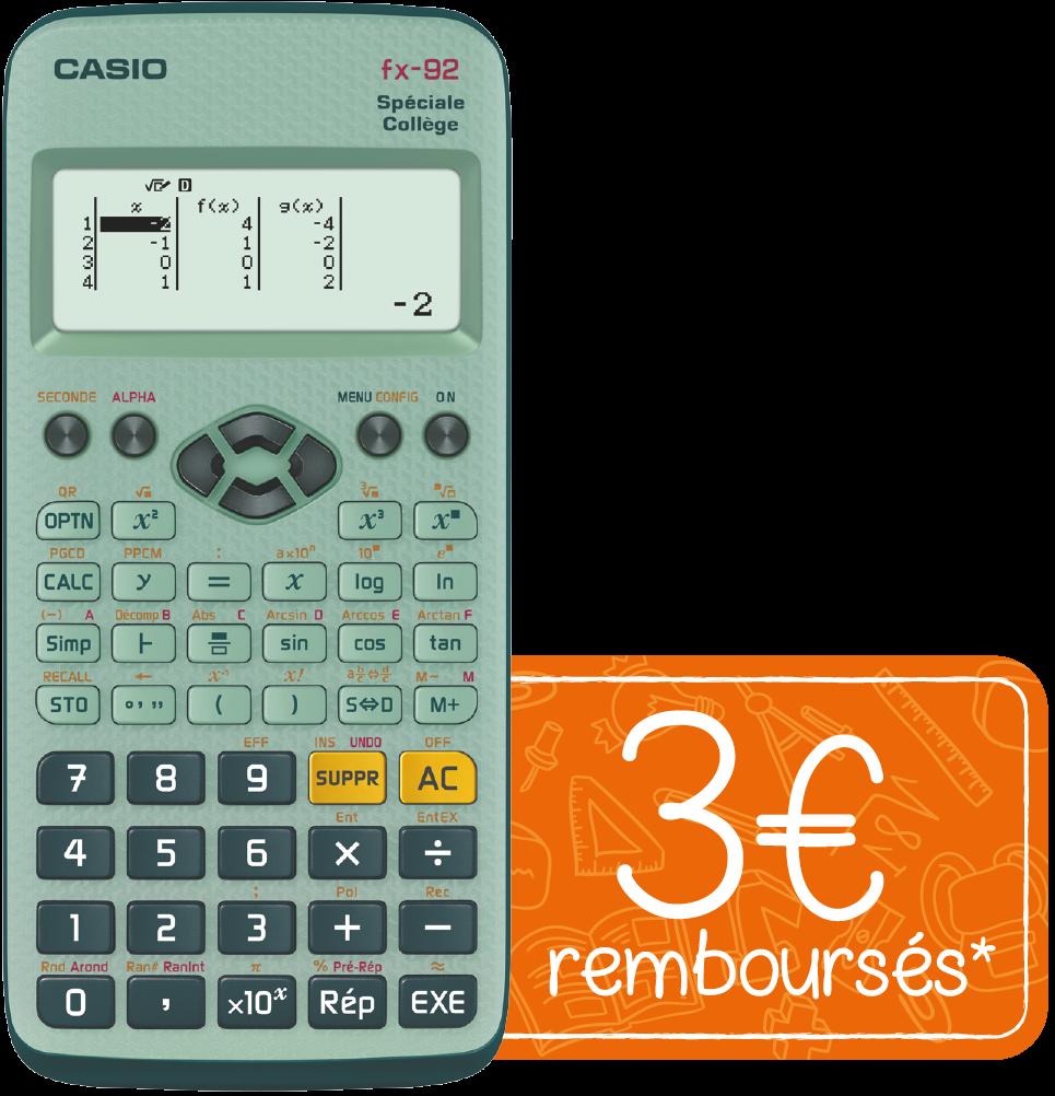 Calculatrice casio fx-92 collège