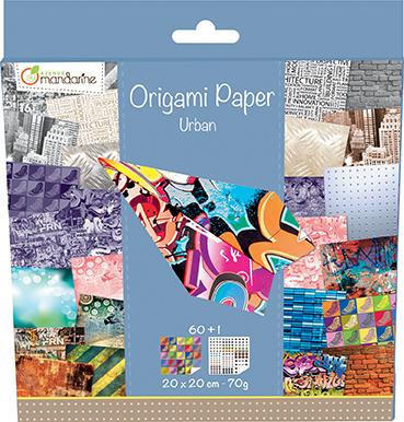 Kit Origami Paper Urban - Avenue Mandarine