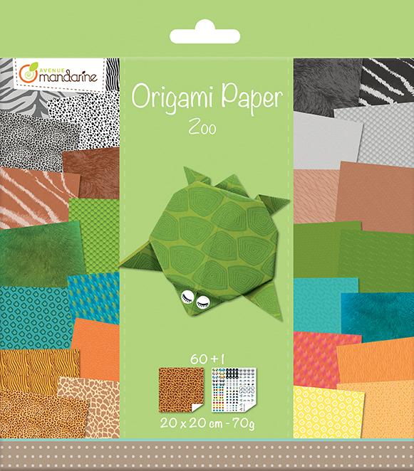 Kit Origami Paper Zoo - Avenue Mandarine