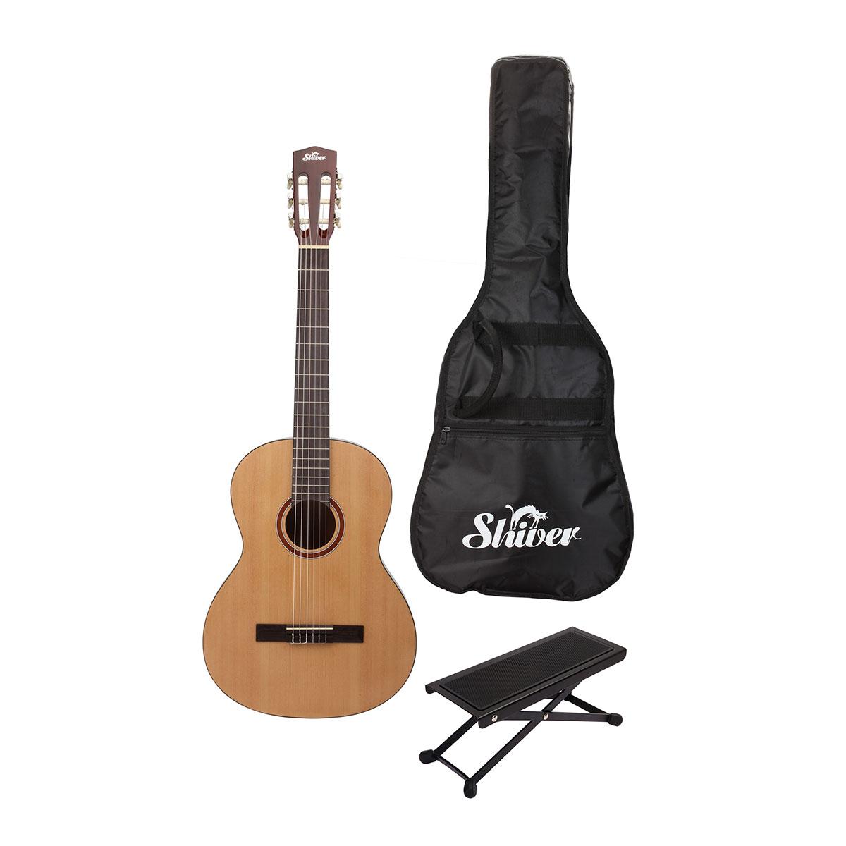 Shiver - Pack guitare classique GCS-3/4 naturelle