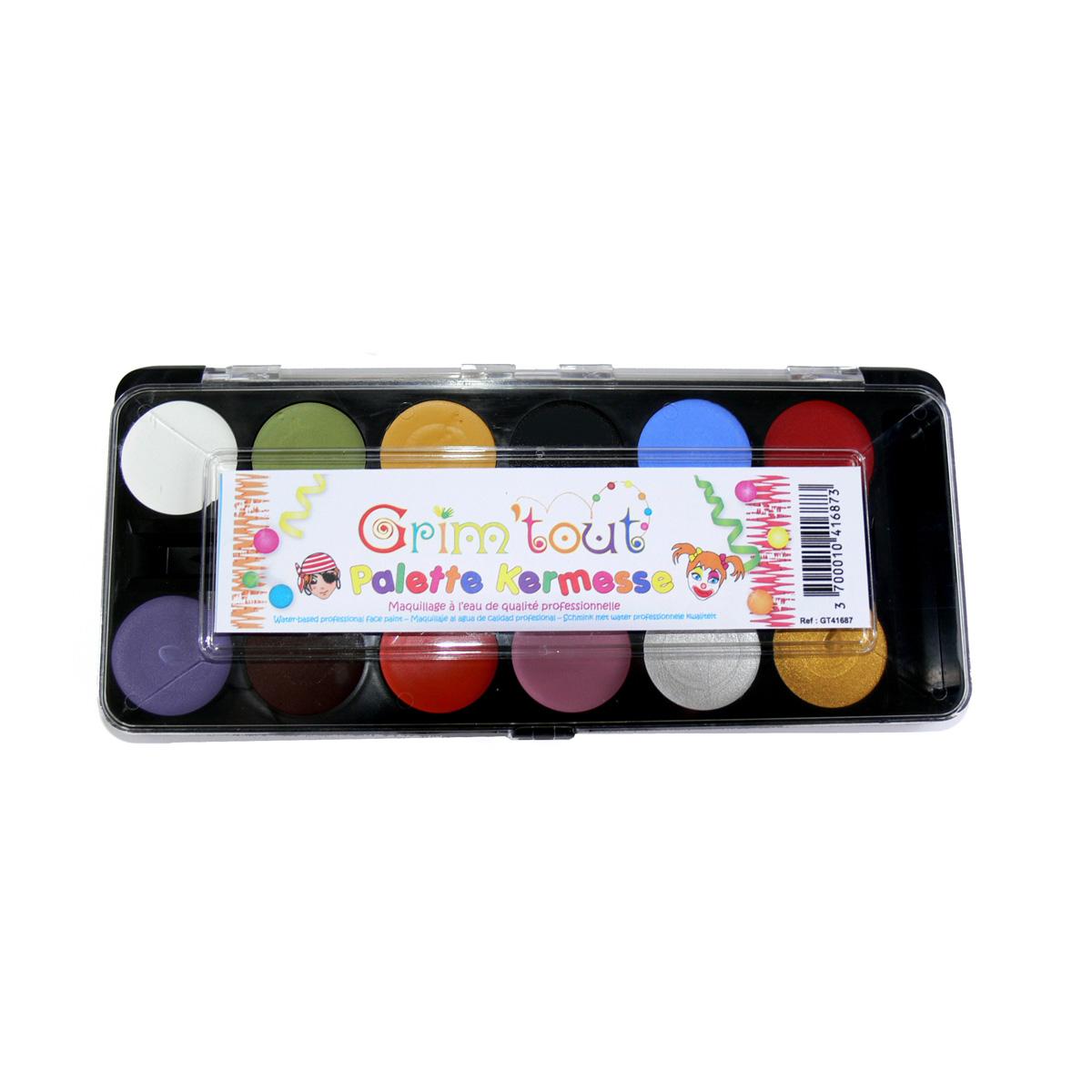 Palette 12 couleurs - Kermesse - Grim'Tout