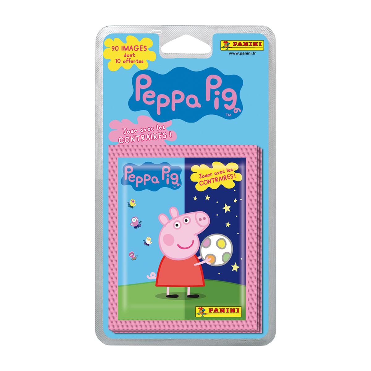 Stickers Peppa Pig joue avec les contraires - 16 pochettes