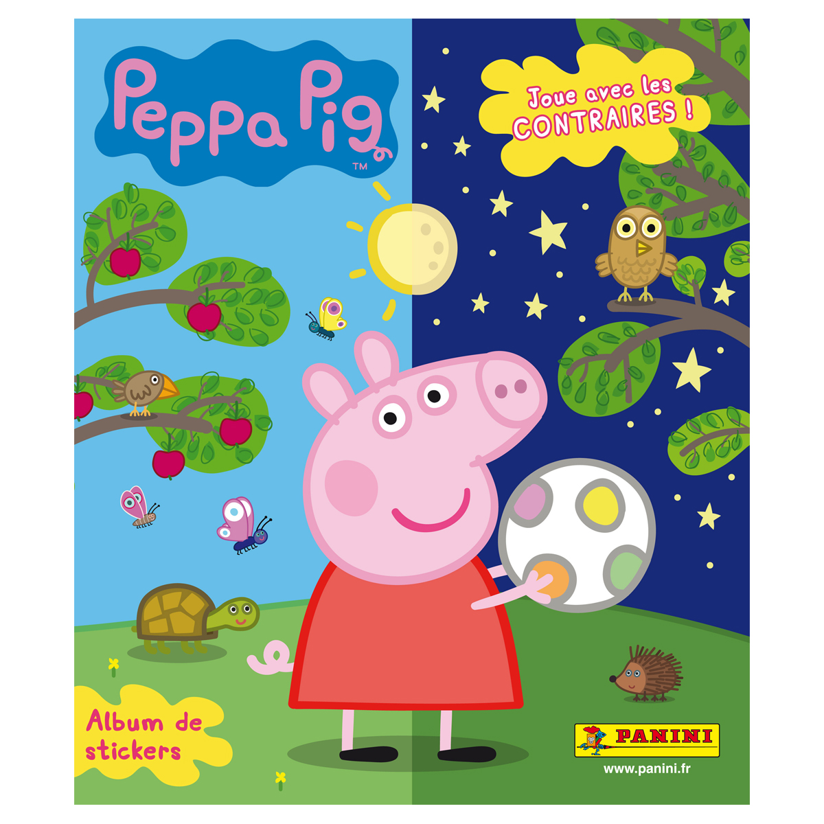 Album stickers - Peppa Pig  joue avec les contraires