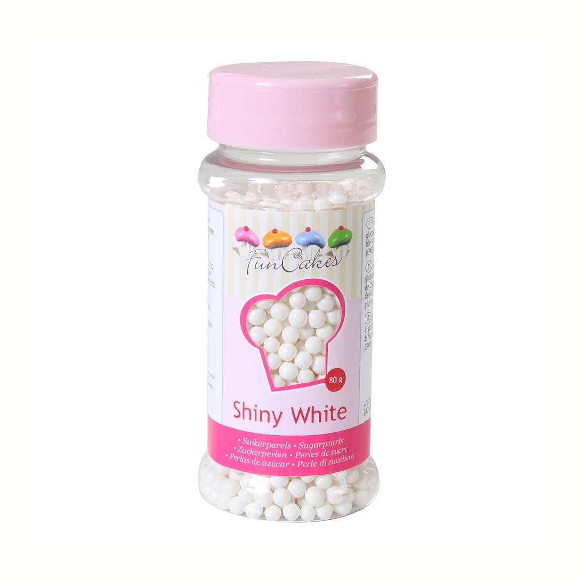 Image du produit Perles de sucre - blanc - 80g - FunCakes