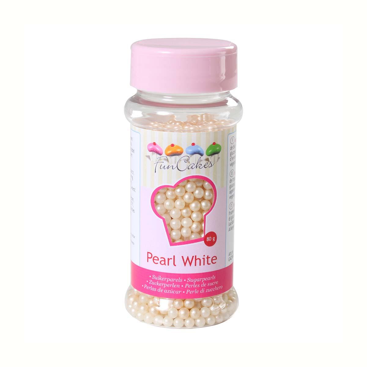 Image du produit Perles de sucre - blanc nacr